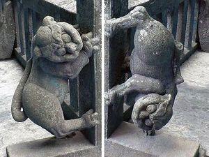 岩木山神社 玉垣狛犬